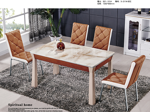 Counter:B01-101#  Dining chair:X-011#Brick red